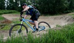 Ryan Lieske on the upper open area of the beginner loop at Lebanon Hills