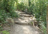 uphill steps at Lebanon Hills