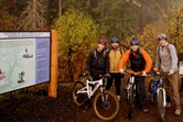 The Wigley men, about to ride the McKenzie River Trail