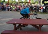 """Hans """"No way"""" Rey at the Cuyuna Lakes Mountain Bike Festival grand opening"""