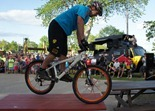"Hans ""No way"" Rey at the Cuyuna Lakes Mountain Bike Festival grand opening"