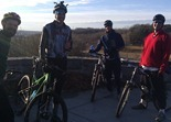 Mountain bikers at Battle Creek Park Reserve: Tim Larson, David Gavin, Eric Marr and Dan Malecha