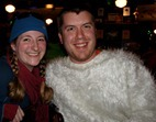 Amanda Scholz and Isaac Ohman (AKA the Cuyuna Lakes Yeti)
