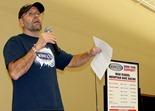 Gary Sjoquist, QBP's Advocacy Director at MN High School League's open house