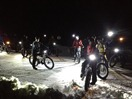 Cuyuna Lakes Whiteout 2012 night ride in the Yawkey Unit; photo by Aaron Hautala