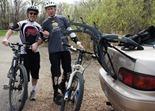 MN Bike Trail Navigator blogger Chris Chavie with Griff Wigley