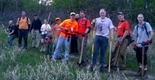 Half of the Lebanon Hills trail crew, April 24, 2012