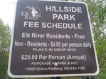 Fee station: Hillside Park in Elk River