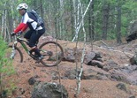 Aaron Hautala riding the Yawkey Unit in the Cuyuna Lakes MBT System
