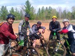 Aaron Hautala (R) and riders in the Yawkey Unit at Cuyuna Lakes.