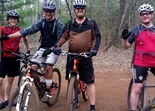 John Seery, Michael Knoll and friends in the Yawkey Unit at Cuyuna Lake MTB Trail System