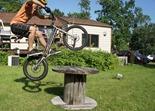 Rudy O'Brien, bicycle trials demo