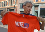 Griff Wigley with t-shirt: Vote No, Don't Limit the Freedom to Marry