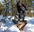 Cuyuna's Timber Shaft trail in winter