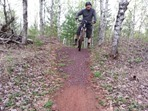 John Schaubach with a section of Cuyuna Gold