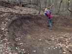 Leb trail work May 7 2013 - berm repair
