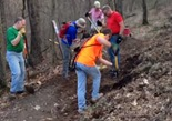 Leb trail work May 7 2013 - jump repair