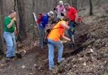 Leb trail work May 7 2013 - jump repair