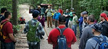 IMBA Trail Care Crew with MORC members