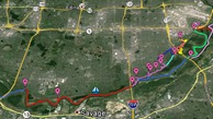Phil Westover Google Map of MN River Bottoms MTB trails