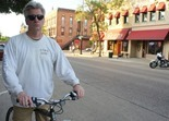Nate Nelson in downtown Northfield, June, 2012