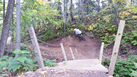 Bridge berm, Smorgasboard MTB trail, Spirit Mountain
