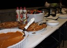 Nita Woelbel's pies and chili, Halloween party 2013, Lebanon Hills