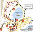 Mountain bike experiential session route