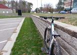 Rock wall, downtown Dundas, MN