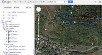 Red Wing Memorial Park MTB Trails - downhill map