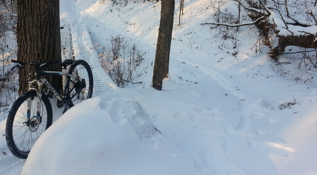 I want a fatty but my 29'er is still fun on the snow-packed singletrack