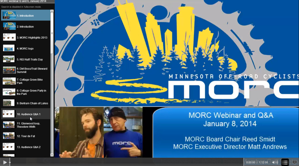 MORC Webinar with Table of Contents