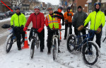 Northfield mountain biker volunteers, Jingle Bell Run, 2014