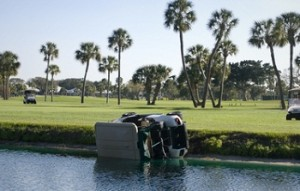 Golf cart crash