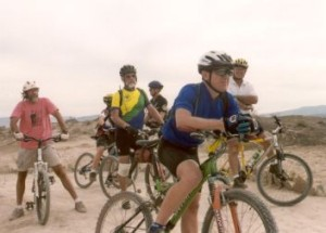 seniors mountain biking