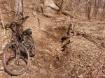 Hybrid mountain biking in Crosby Farm Regional Park