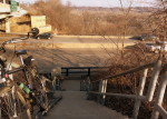 Urban skinny, north end of the Fort Snelling Bridge
