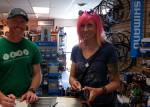 Jake Carsten and Kat Sweet at Valley Bike and Ski