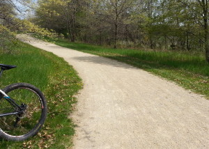 Crushed limestone bike trail