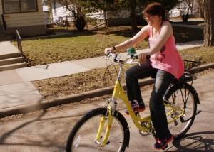 Gilly Wigley and new bike