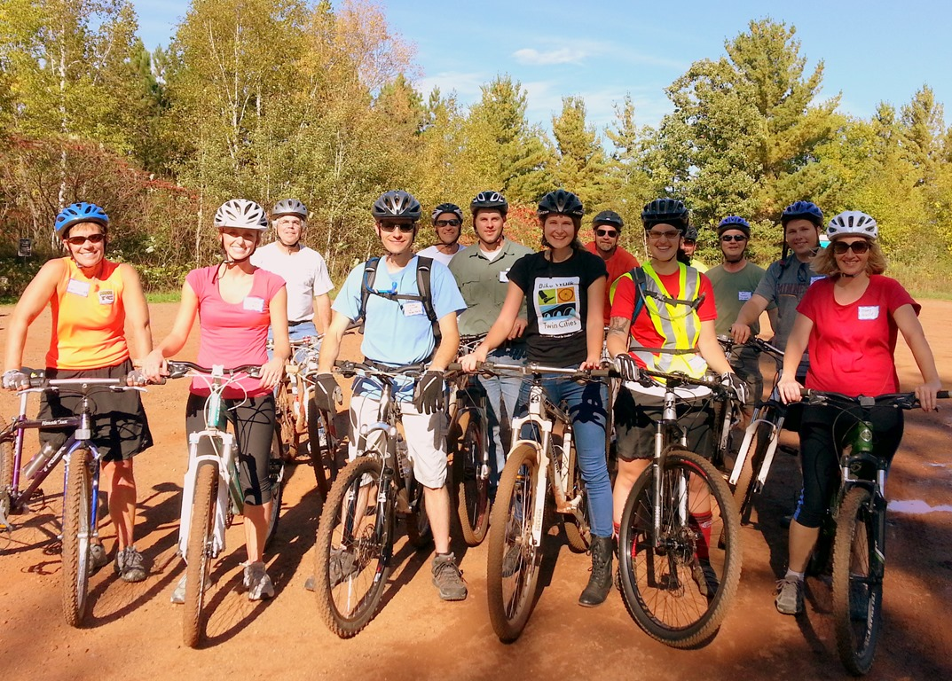 MTB group ride, Cuyuna Lakes