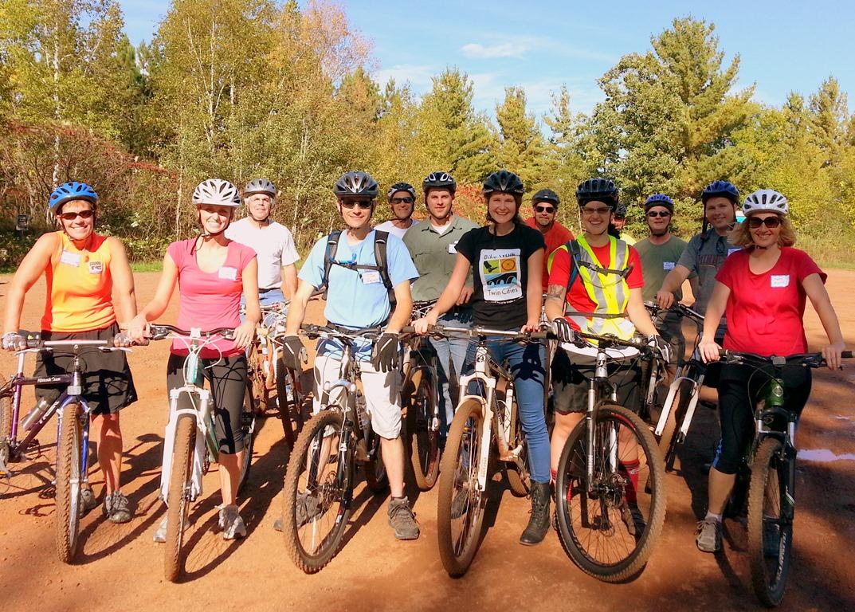 MTB group ride, Cuyuna Lakes
