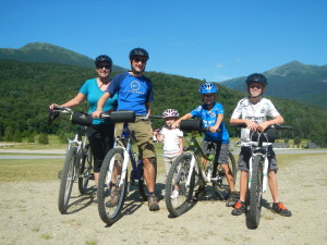 family recreational mountain biking 2