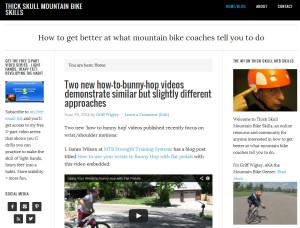 Thick Skull Mountain Bike Skills - home page