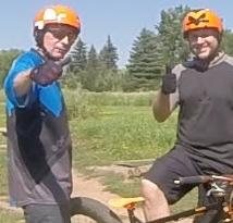 Griff and John orange helmets cropped