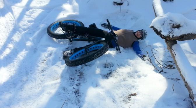 O'er the trails she goes, laughing all the way: fat bikes do that to you