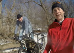 Bruce Morlan, Griff Wigley - CROCT's Sechler Park MTB trail