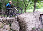 One of many of my fails on MAMB's Kiwanis MTB Trail's 'stonehenge'
