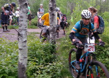 Dee Clouse Bartlam, start of Stage 2, Duluth Enduro Series, Piedmont
