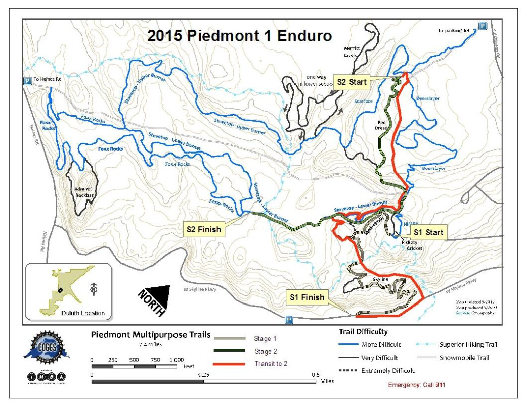 2015 Duluth Enduro Series 1 map